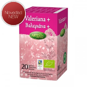 VALERIANA Bio 20 filtros Artemis