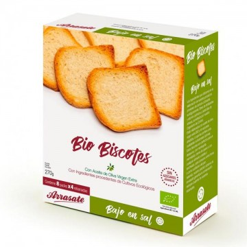 Biscotes sin sal ni azucar Bio 270 gr