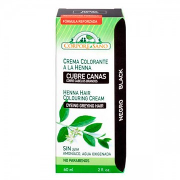 CUBRE CANAS A LA HENNA NEGRO 60 ml