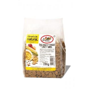 SALVADO TRIGO CON LINO Y MIEL 250 gr