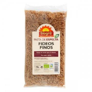Fideos Finos de Espelta Bio 250gr Biogra