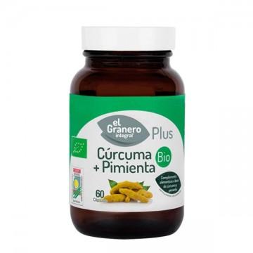 Curcuma +  Pimienta Bio 60 caps Granero