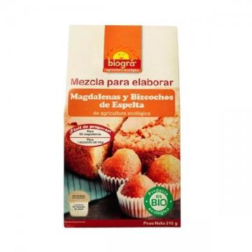 MEZCLA MADALENAS Y BIZCOCHO Bio 518 gr