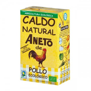 CALDO NATURAL DE POLLO Bio 1 L Aneto