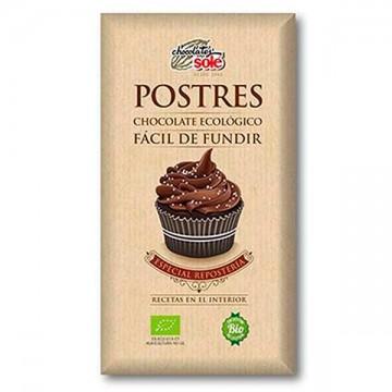 Chocolate Fundir Postres Bio 200 gr Sole