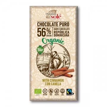 Chocolate Negro 56% con Canela Bio 100gr