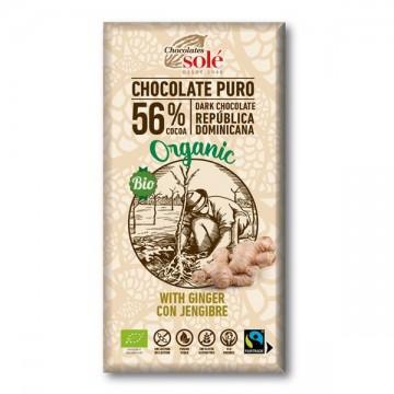 Chocolate Negro Jengibre 100% Eco 100 gr