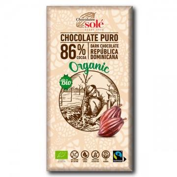 Chocolate Negro 86% Bio 100 gr Sole