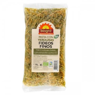 FIDEOS FINOS DE VERDURAS Bio 250 gr
