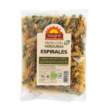 ESPIRALES TRIGO DE VERDURAS Bio 250 gr
