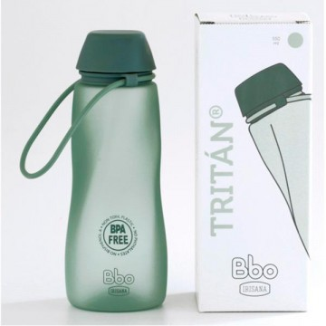 Botella Tritan bbo verde 550 ml Irisan