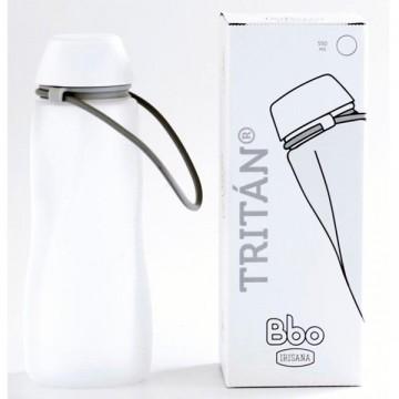 Botella Tritan bbo blanco 550 ml Irisan
