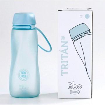 Botella Tritan bbo azul 550 ml Irisana