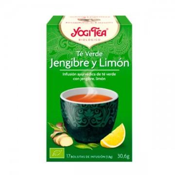 Te Verde Jengibre y Limón Bio 17 filt