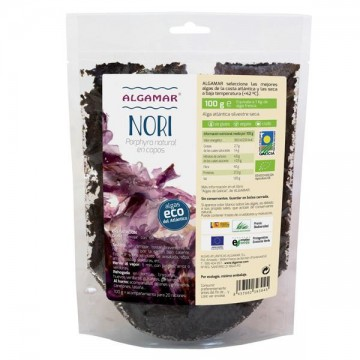 Alga Nori en copos Bio 100 gr Algamar