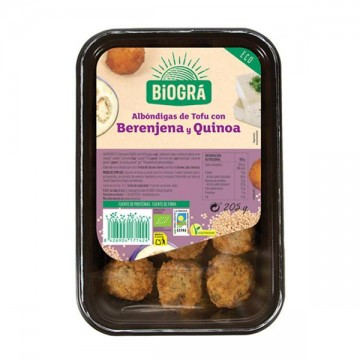 Albóndigas Tofu Berenjena y Quinoa Bio