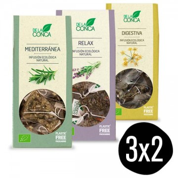 Pack Infusion Digest, Relax y Medit Bio