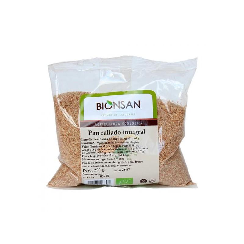 Pan rallado Integral Bio 250 gr Bionsan