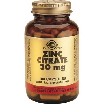 ZINC CITRATO 30 mg 100 caps Solgar