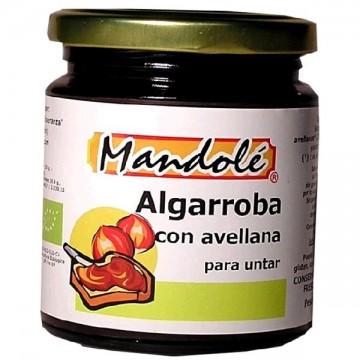 CREMA DE ALGARROBA Y AVELLANA Bio 375 gr