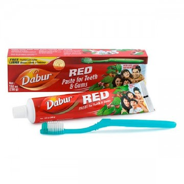 DENTIFRICO DABUR RED 200 gr + CEPILLO