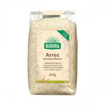 Arroz Basmati Blanco Bio 500 gr Biogra
